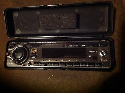 2000 Ford Focus / Sony Radio / Cd Player Radio Receiver Face Plate Ys4Z-18805-AA