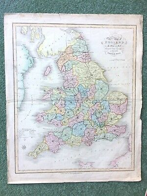 Antique map by James Duncan from A Complete County Atlas of England & Wales