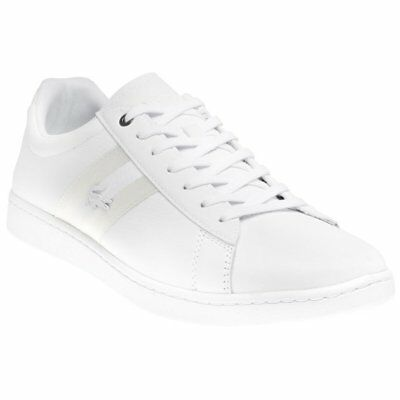 New Mens Lacoste White Carnaby Evo 119 5 Sma Leather Trainers Court Lace Up