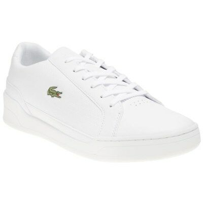 e5c8f80887 New Mens Lacoste White Challenge 119 2 Sma Leather Trainers Court Lace Up