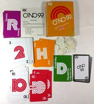 International Games ONO 99TM Vintage Family Card Game 1980 From Makers