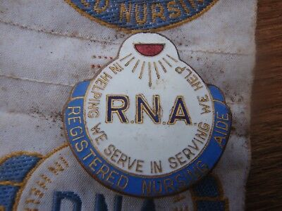 Enamel Badge Reg. Nursing Aide with Ribbon