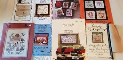 Premium Lot of Cross Stitch Sampler Charts w/Some Extras Carriage House-Sheepish