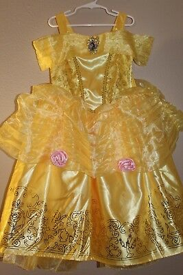 Disney Store Princess Belle Beauty & the Beast Dress Up Play Costume Small 4-6X