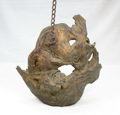 A901: Really old Japanese wooden hanging ornament with fantastic taste and shape