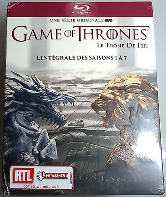 GAME OF THRONES SEASONS 1-7 BLU-RAY Sealed Region-Free FRENCH IMPORT 2 3 4 5 6