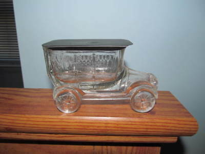 glass truck candy container