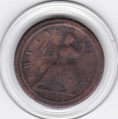 1720   King  George   Half  Penny   Copper  Coin