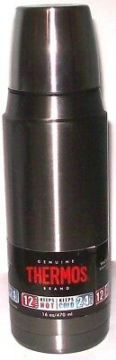 NEW 16oz Stainless Steel Vacuum Insulated Compact Coffee Tea Thermos Bottle GRAY