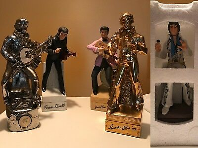 McCormick Lot of 5 Collectable Elvis Presley Vintage Whiskey Liquor Decanters
