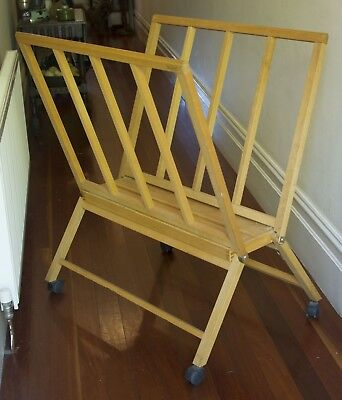 MABEF M40 'Giant' Print Rack - Made in Italy - oiled beech wood print rack