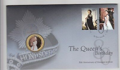 2006 The Queen's Birthday with coloured $1.00 coin  PNC. Scarce &  Going Cheap