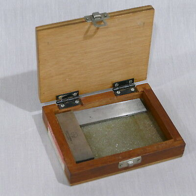 """Mitutoyo Solid Square No. 916-302 Roughly 2¾""""×4"""" in Wood Case"""