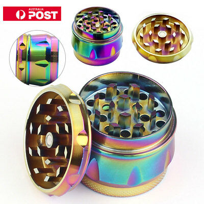 40mm Rainbow Metal Zinc Alloy Hand Grinder 4 Layers Tobacco Herb Spice Crusher