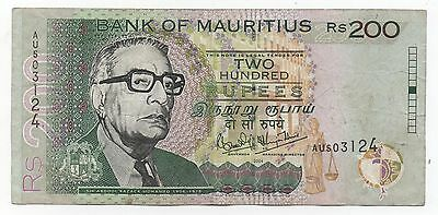 Mauritius 200 Rupees 2004 Pick 52 C Look Scans