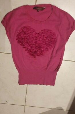 Girls Ted Baker Pink Top Size 10