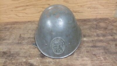 ORIGINAL WWII DUTCH M34 HELMET with AS IS LINER & STRAPS