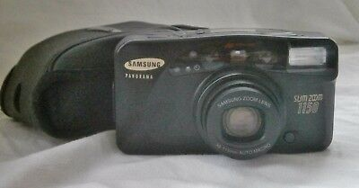 Samsung Slim Zoom 1150 Panorama Film Camera 38-118mm With Case