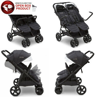 J is for Jeep Brand Destination Ultralight Side x Double Stroller, Midnight...