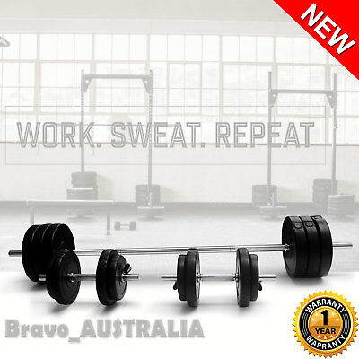 Barbell Weights Set Dumbbell Plates Home Gym Bench Press Fitness Exercise