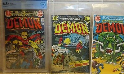 The Demon #1 (Aug-Sep 1972, DC) CBCS 6.5 & Demon 2 & 3 Ungraded