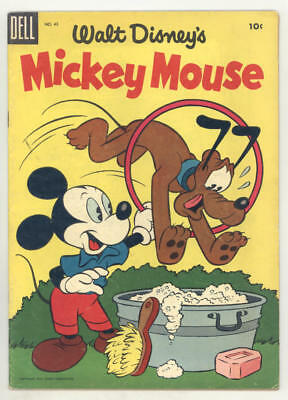 1955 MICKEY MOUSE #43 comic book with FOOLING PLUTO cover. FINE