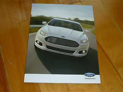 Ford Full Line 2013 Brochure Catalog Ad French Original Dealer Sales Mustang