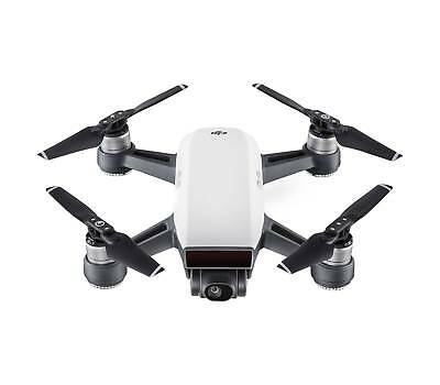 DJI Spark Alpine White Quadcopter Drone 12MP 1080p Video - For parts Not working