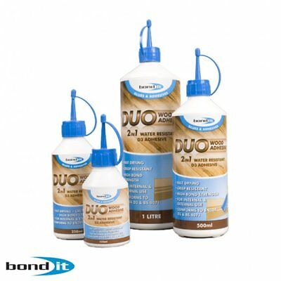 4 x 250ml BOND IT 2 in 1 PVA Wood Glue Adhesive Fast drying and water resistant