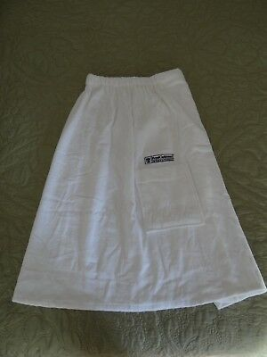 NEW ROYAL CARIBBEAN cruise white chenille terry cloth robe wrap snap one size