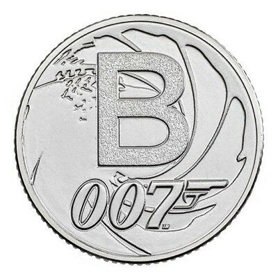 2018 Letter B 10p Coin - BOND JAMES BOND 007- Great British Coin Hunt Royal Mint