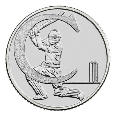 2018 Letter C 10p Coin - CRICKET Great British Coin Hunt Royal Mint Uncirculated