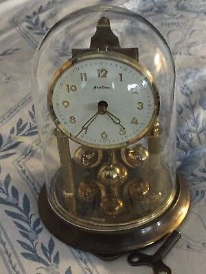 Vintage Of 1960's German Anniversary 400 Day Mech Move Dome Clock