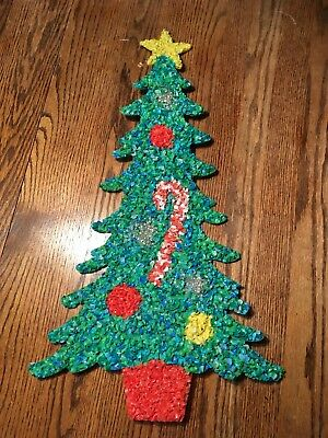 Vintage Christmas Tree Melted Plastic Popcorn-24 Inches