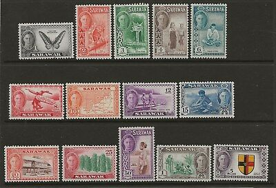 Sarawak  Sg 171/83 & 185   1950 Gvi Set Excluding The $2   Fine Mounted Mint