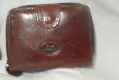 Facchino Real Calf Leather Vintage Retro Old Purse Super Condition Lots Of Slots