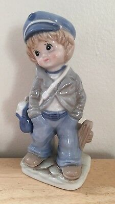 Made in Japan - Mail Delivery Boy - Porcelain Figurine - Great Shape!!