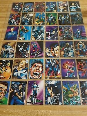 Marvel: The Punisher, War Journal Entry~1992~72 Assorted Trading  Cards
