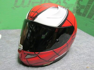 HJC RPHA 11 Pro Marvel Edition Spiderman Full Face Motorcycle Helmet Red LG