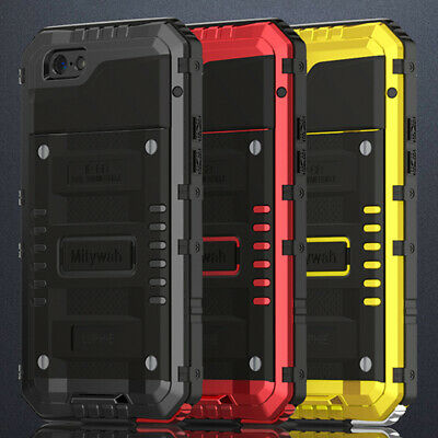 Luphie Waterproof Shockproof Aluminum Metal Armor Case Cover For iPhone X 8 Plus