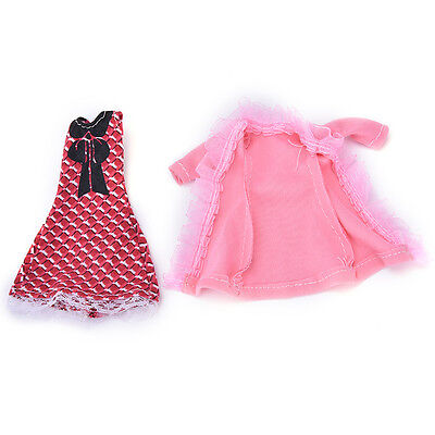 """Fashion Beautiful Handmade Party Clothes Dress for 9""""  Doll P*CA"""
