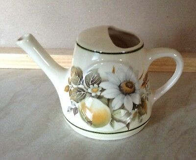 Brixham Pottery Devon Watering Can With Flowers.