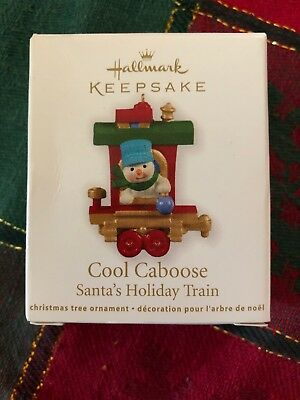Hallmark Miniature Ornament 2011 Cool Caboose - Santas Holiday Train