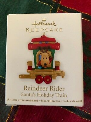 "2011 ""Reindeer Rider"" Santa's Holiday Train Miniature  Hallmark Ornament"
