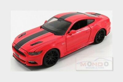 Ford Usa Mustang Coupe 5.0 Gt Custom 2015 Red Black MAISTO 1:24 MI31369R Model