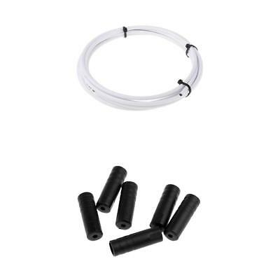Prettyia Bike Bicycle Break Shift Cable Housing Wire Wrap with End Cap Set
