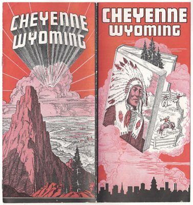 1940 Cheyenne Wyoming Brochure. History, Airport, Industry, FRONTIER DAYS, etc