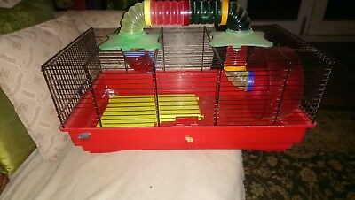 Medium/large Hamster, Gerbil cage with accessories (inc  tunnel)570long x 270 h