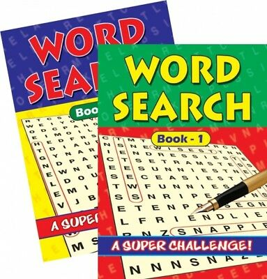 2  x A4 Newsprint Word Search Puzzle Book Puzzles A4 Pages Trivia Uk