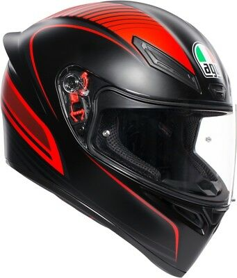 Casco Integrale Agv K1 K-1 Multi Warmup Black - Red Taglia Xs
